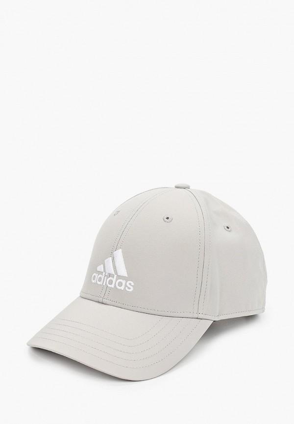 женская бейсболка adidas, серая