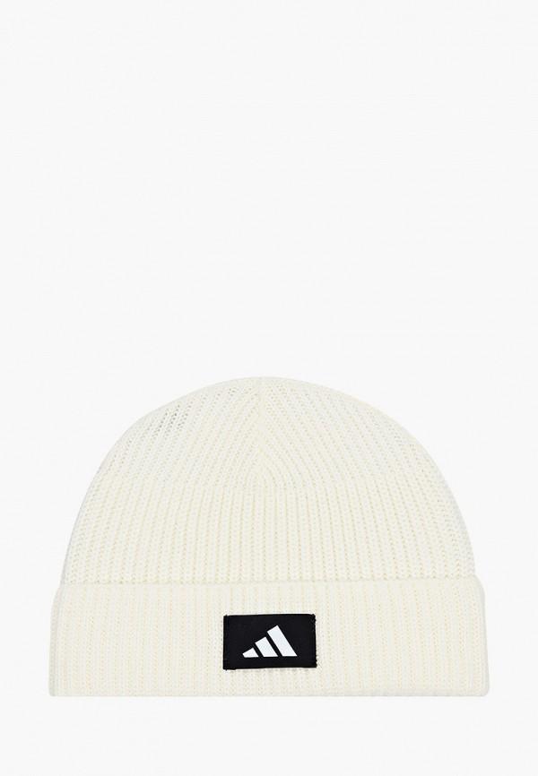 женская шапка adidas, белая