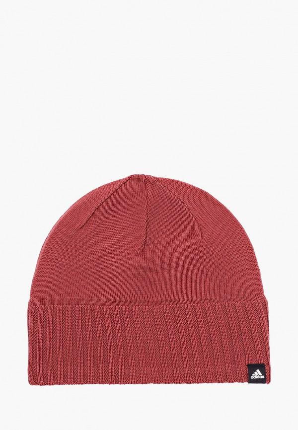 женская шапка adidas, коричневая