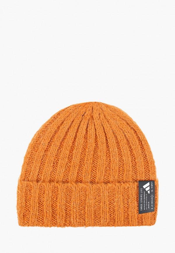 женская шапка adidas, оранжевая