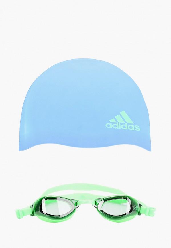 Шапочка и очки для плавания adidas DQ1711 фото