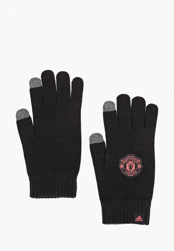 Купить Перчатки adidas, MUFC GLOVES, AD002DUCDDN4, черный, Осень-зима 2018/2019