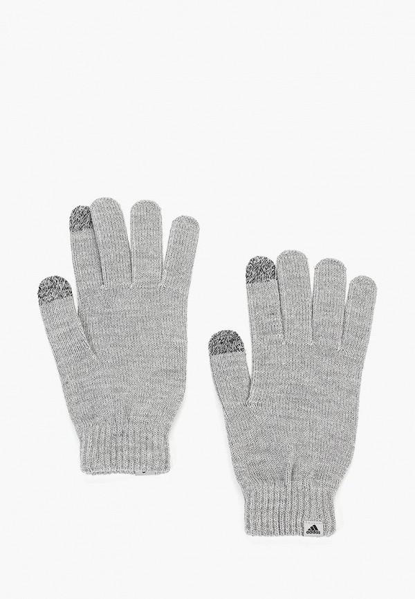 Купить Перчатки adidas, PERF GLOVES, AD002DUCDDN8, серый, Осень-зима 2018/2019