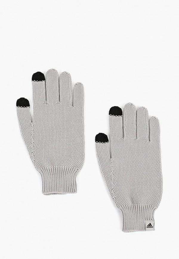 женские перчатки adidas, серые