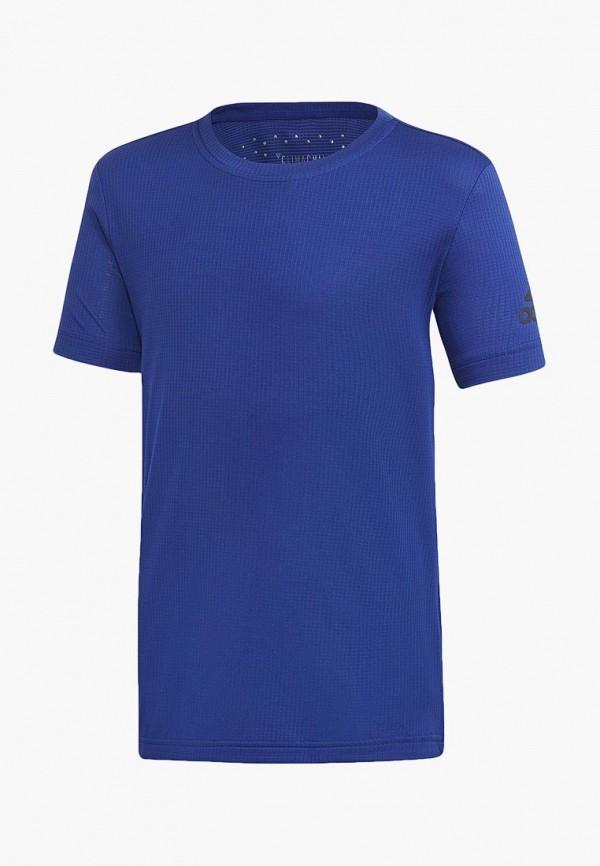 футболка adidas для мальчика, синяя