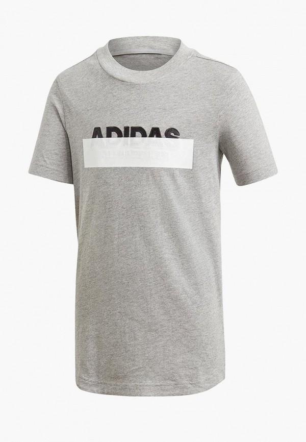 футболка adidas для мальчика, серая