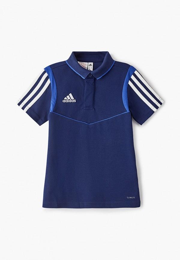 поло adidas для мальчика, синее