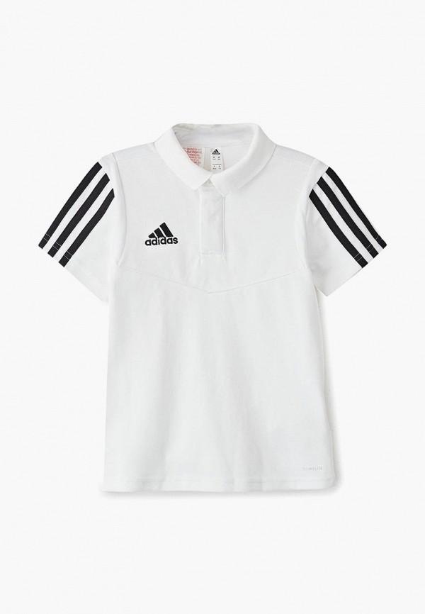 поло adidas для мальчика, белое