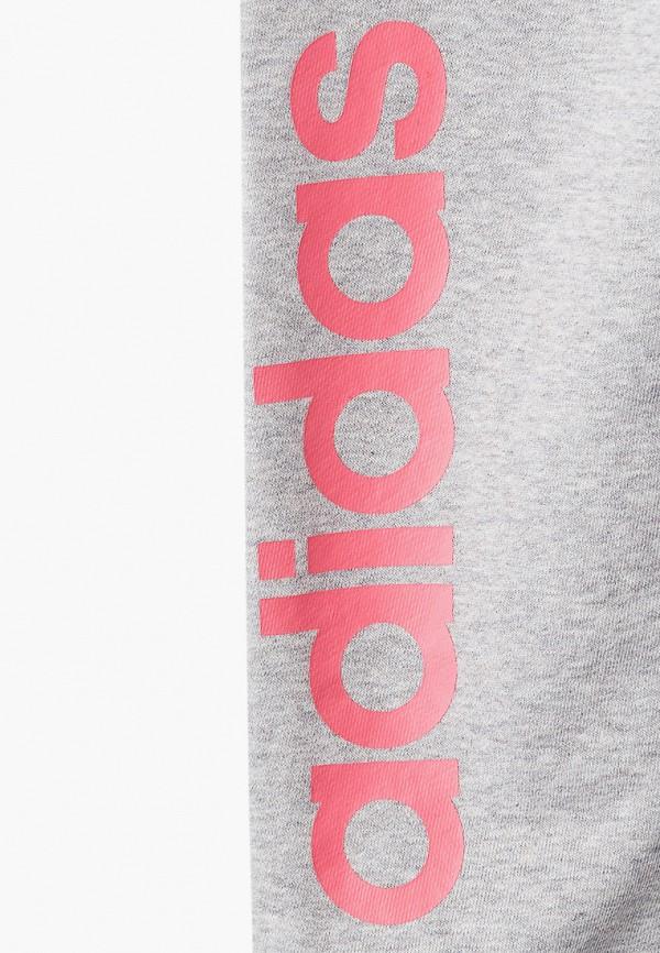 Фото 3 - Брюки спортивные adidas серого цвета