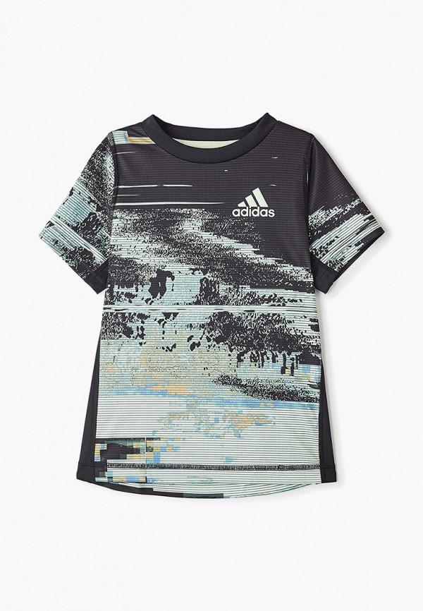 Купить Футболку спортивная adidas черного цвета