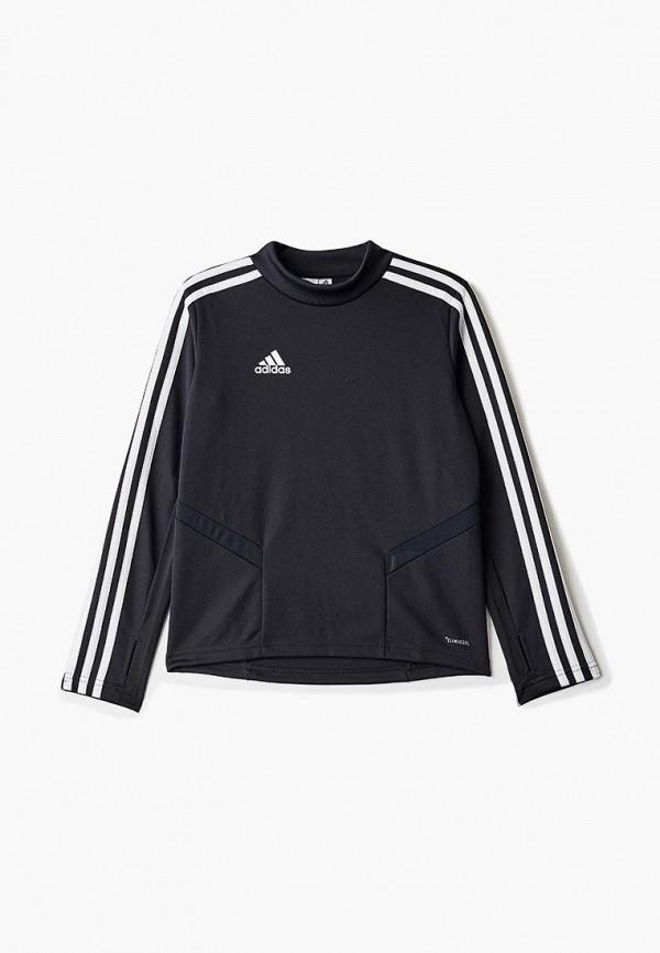лонгслив adidas для мальчика, черный