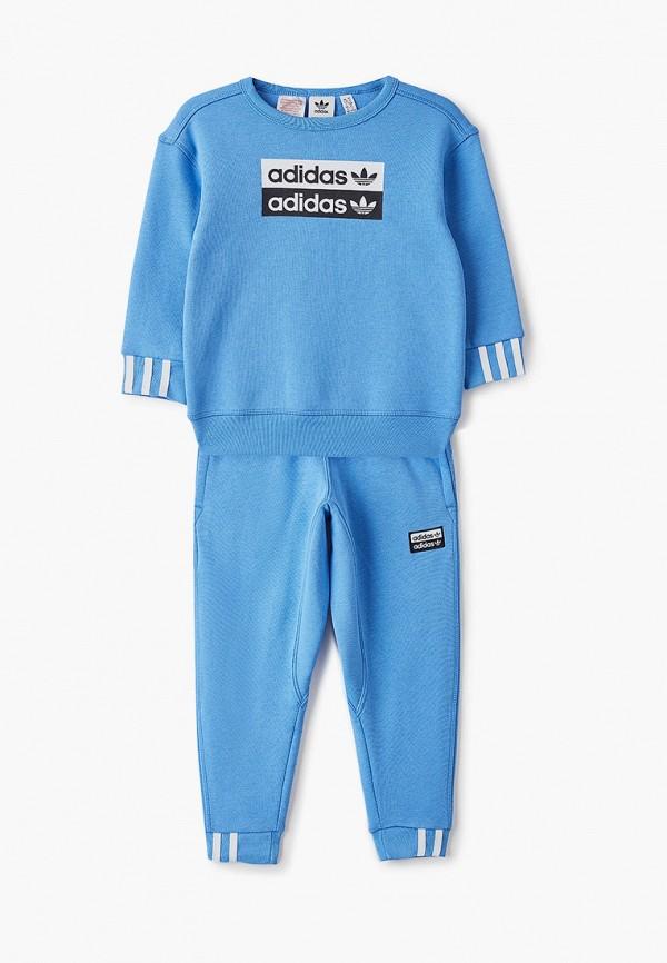 спортивный костюм adidas для мальчика, голубой