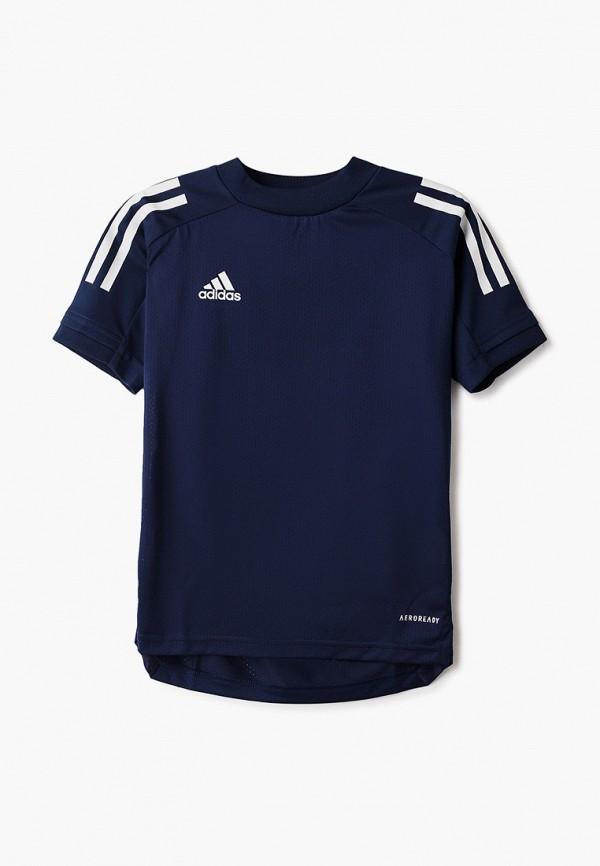 Фото - Футболку спортивная adidas синего цвета