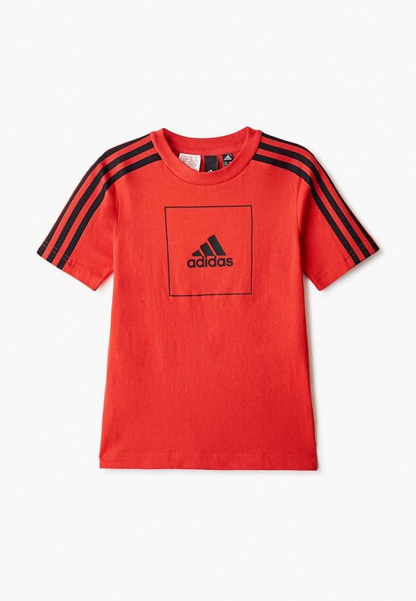 Фото - Футболку спортивная adidas красного цвета