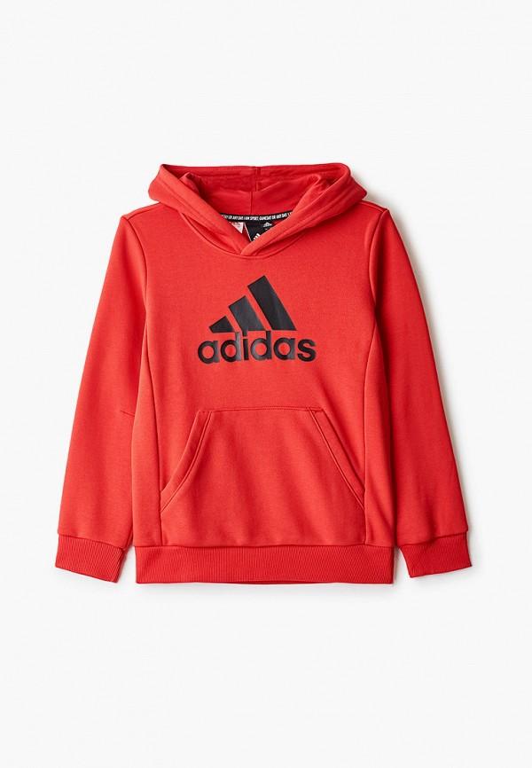 худи adidas для мальчика, красные