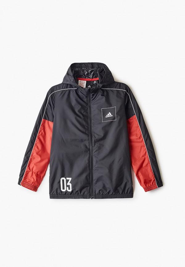 ветровка adidas для мальчика, черная