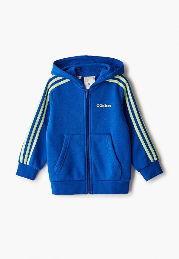 толстовка adidas для мальчика, синяя