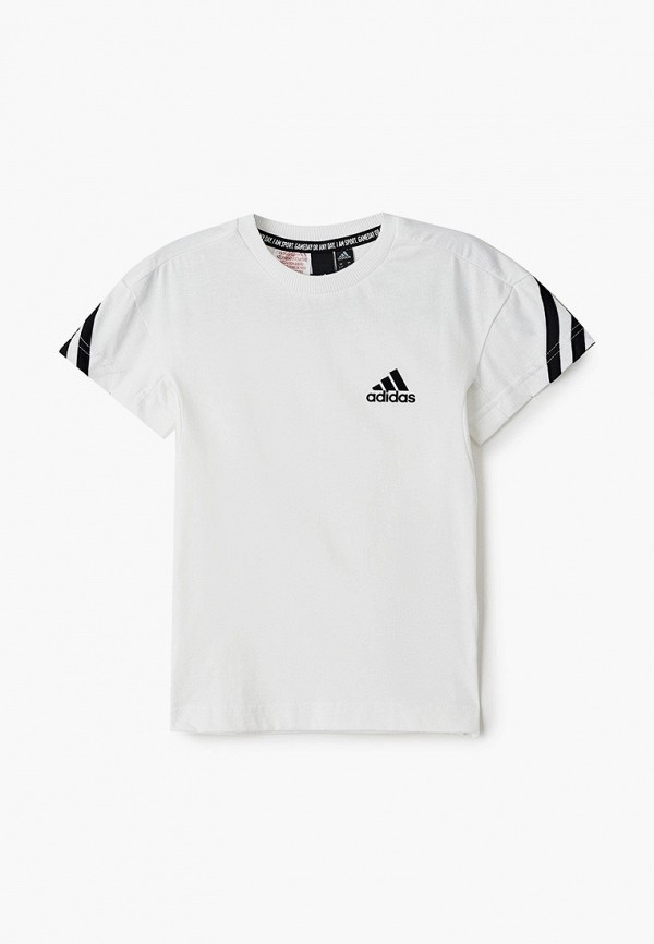 футболка adidas для мальчика, белая