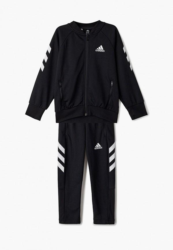 спортивный костюм adidas для мальчика, черный