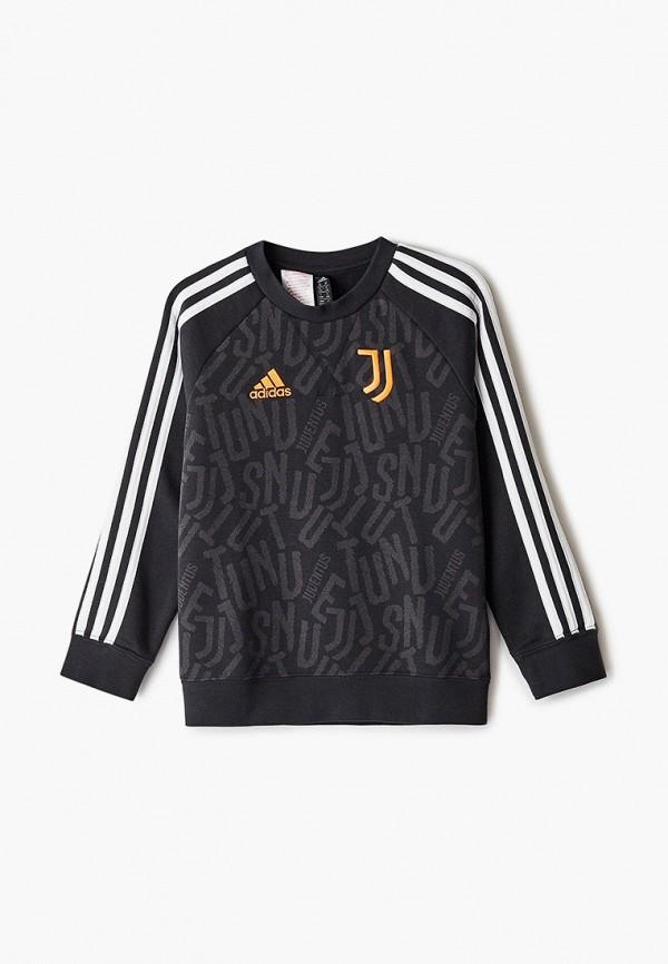свитшот adidas для мальчика, черный