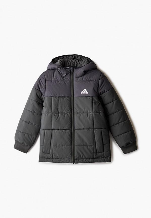 куртка adidas для мальчика, зеленая