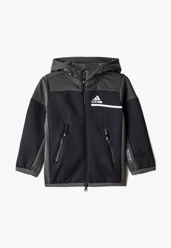 толстовка adidas для мальчика, черная