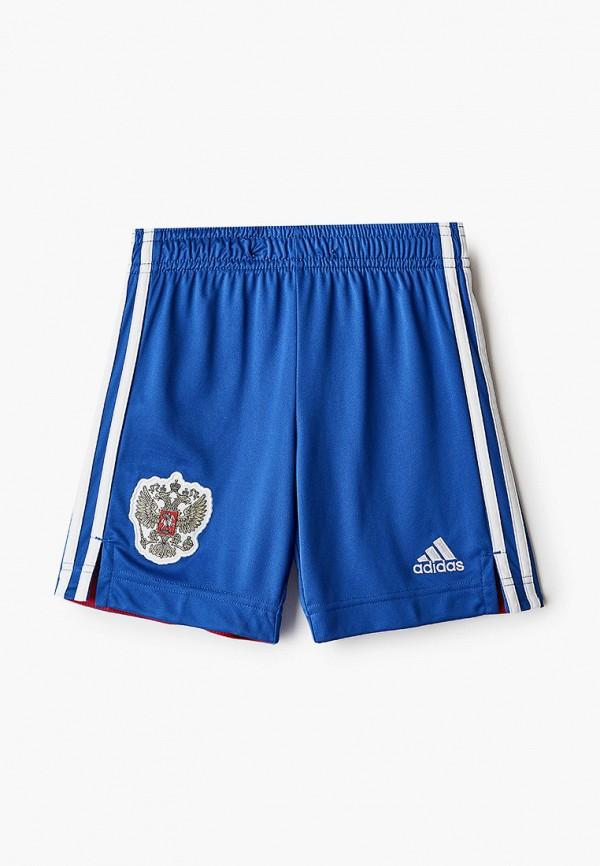 Шорты спортивные adidas синего цвета