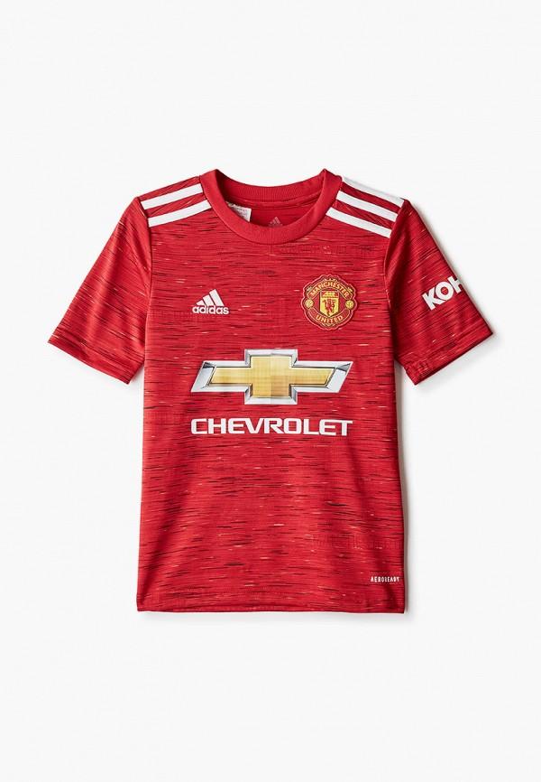 футболка adidas для мальчика, красная
