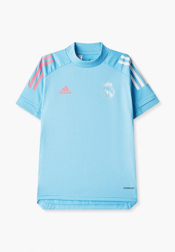 Футболка спортивная adidas adidas FQ7845 голубой фото