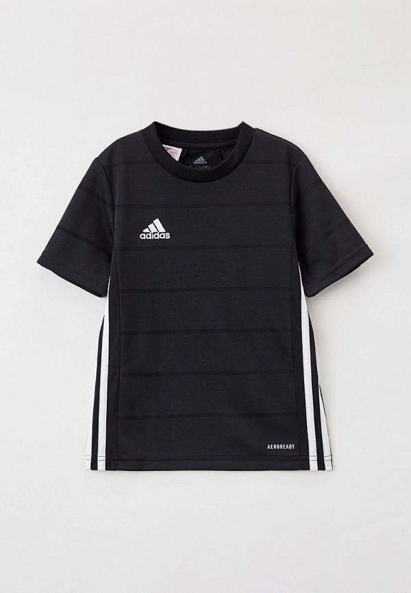 футболка с коротким рукавом adidas для мальчика, черная