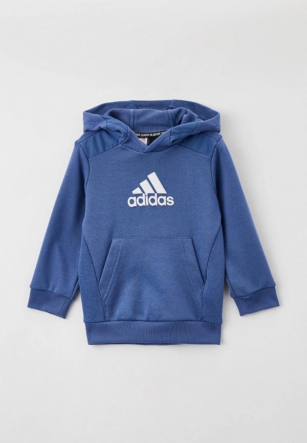 Худи adidas синего цвета