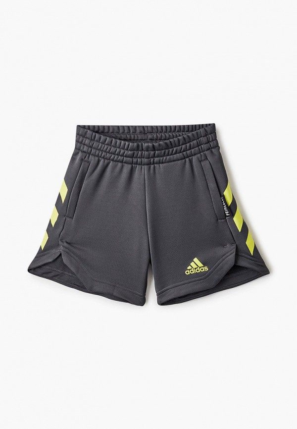 Шорты спортивные adidas серого цвета