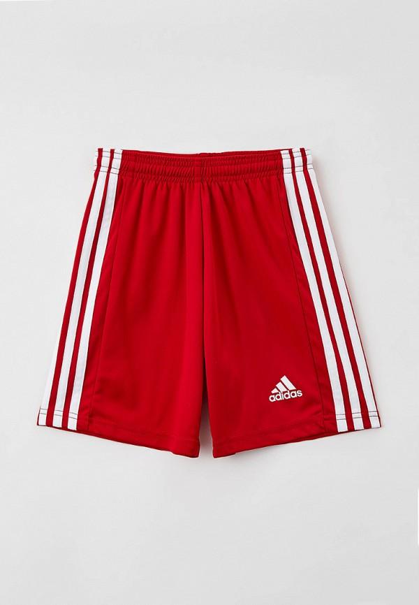 спортивные шорты adidas для мальчика, красные