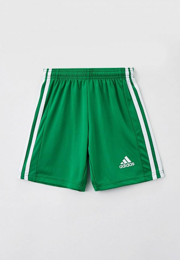 спортивные шорты adidas для мальчика, зеленые