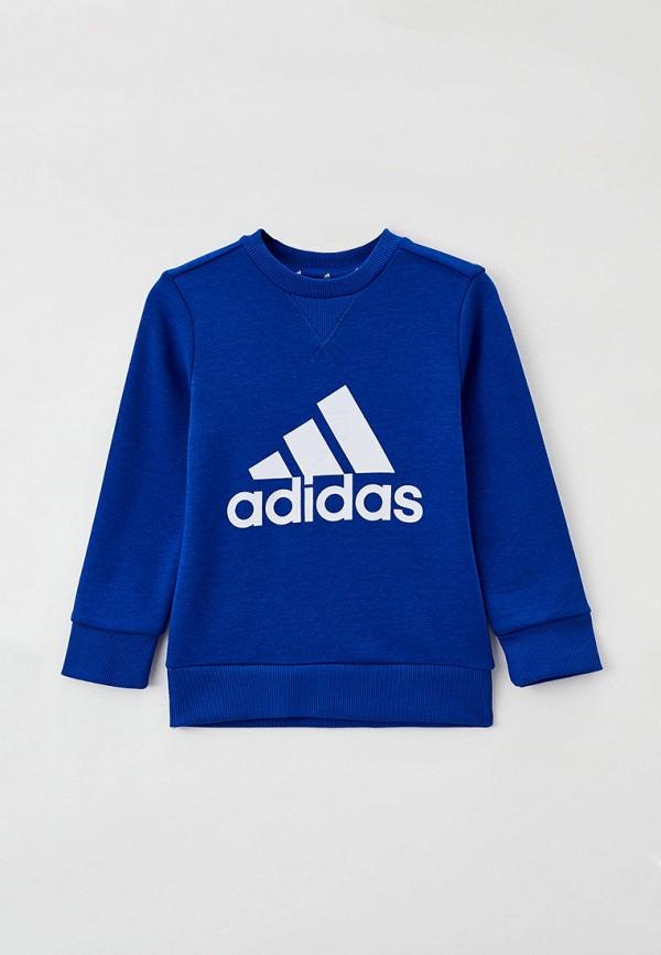Свитшот adidas синего цвета