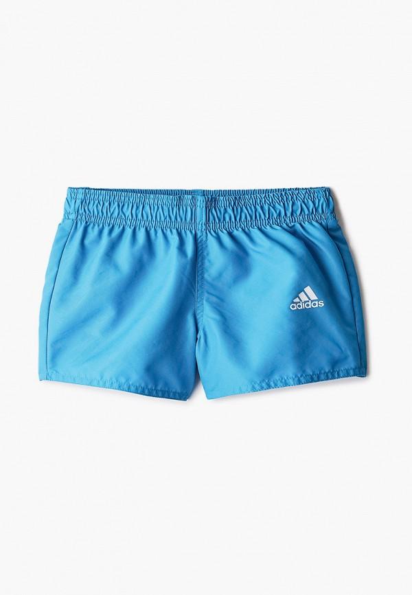 спортивные шорты adidas для мальчика, бирюзовые