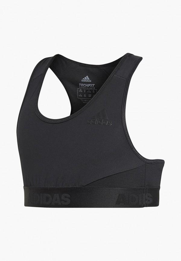спортивные спортивный бюстгальтер adidas для девочки, черный