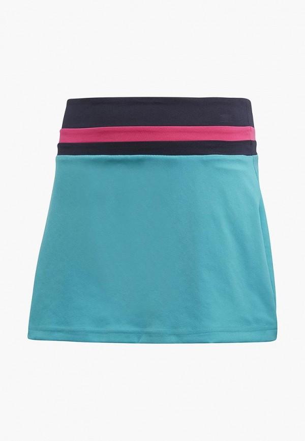 юбка adidas для девочки, голубая