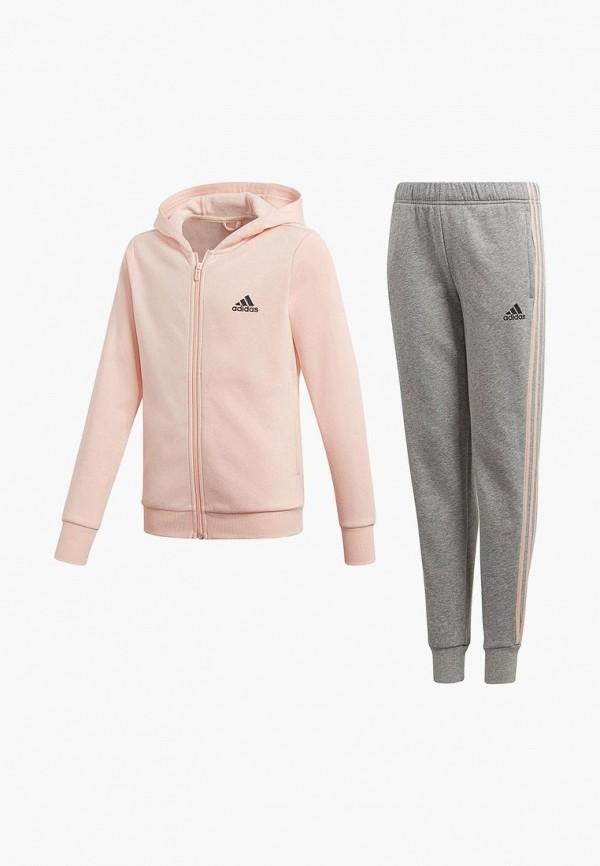 Купить Костюм спортивный adidas, adidas AD002EGCDAV3, розовый, серый, Осень-зима 2018/2019