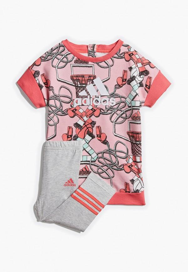 Костюм спортивный adidas adidas AD002EGEOLG3 спортивный костюм для девочки adidas i mm tight set цвет розовый темно серый dv1252 размер 86