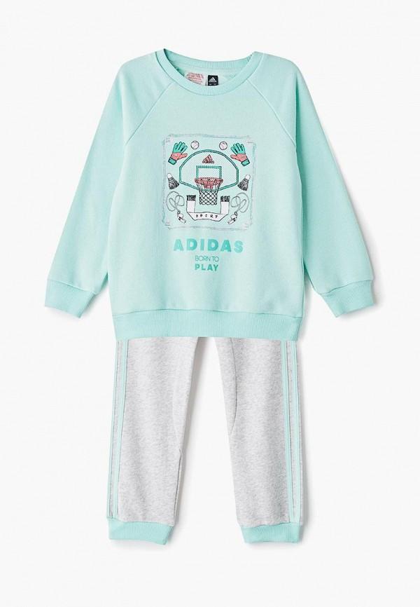 Костюм спортивный adidas adidas AD002EGEOLG5 спортивный костюм для девочки adidas i mm tight set цвет розовый темно серый dv1252 размер 86