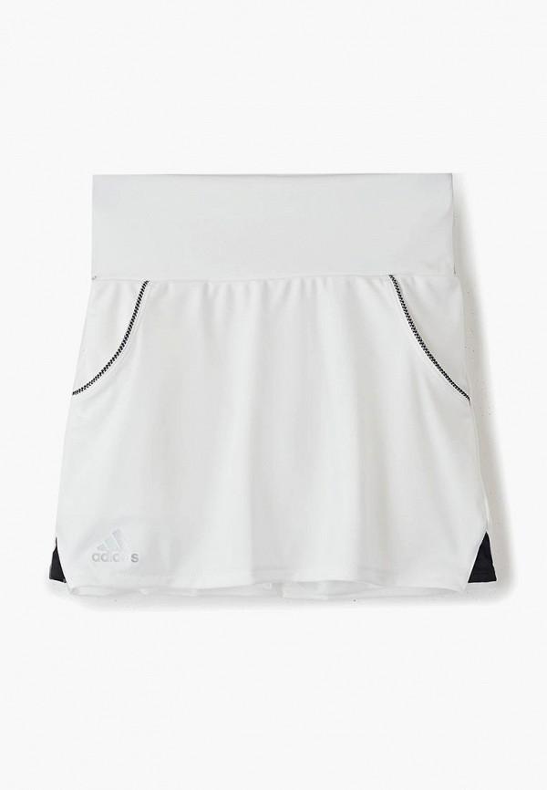 юбка adidas для девочки, белая