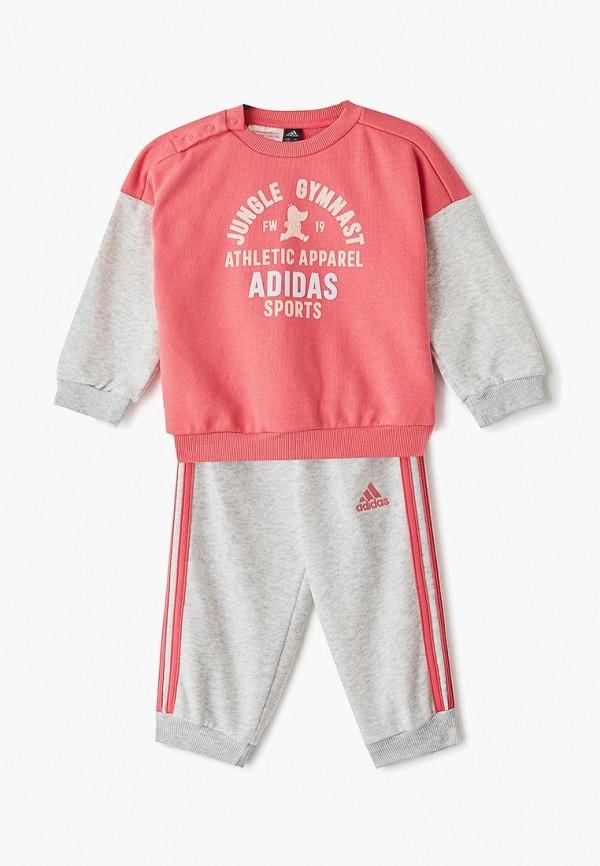 Костюм спортивный adidas adidas AD002EGFKOJ5 спортивный костюм для девочки adidas i mm tight set цвет розовый темно серый dv1252 размер 86