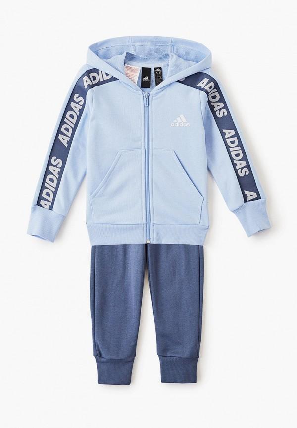 спортивный костюм adidas для девочки, голубой