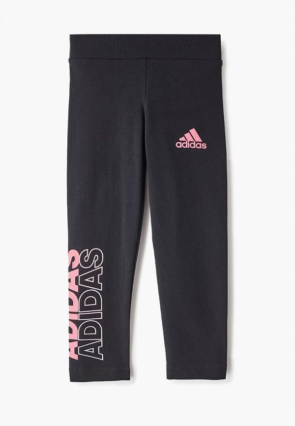 Фото - Тайтсы adidas черного цвета