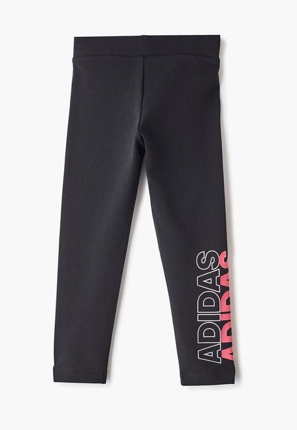Фото 2 - Тайтсы adidas черного цвета