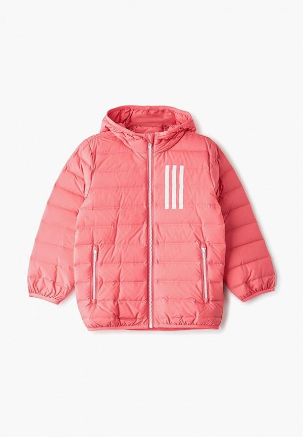 Купить Пуховик adidas розового цвета