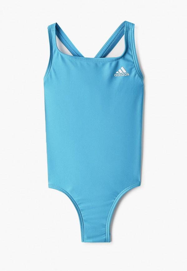 купальник adidas для девочки, голубой