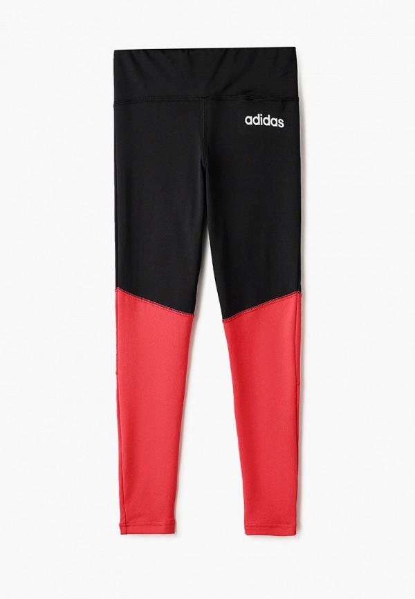 спортивные леггинсы adidas для девочки, разноцветные