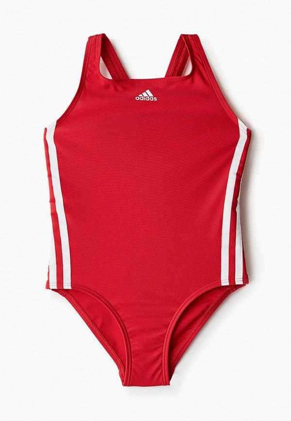 купальник adidas для девочки, красный